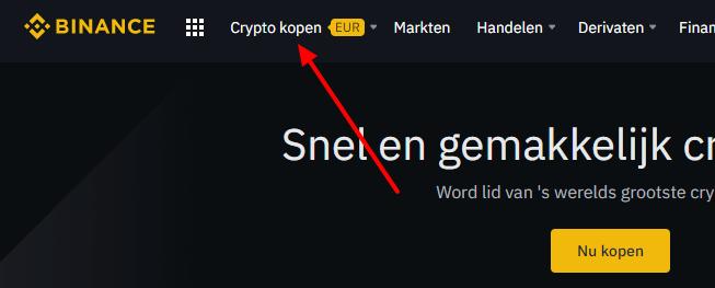 Binance crypto kopen